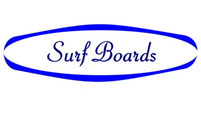 Surf board logo